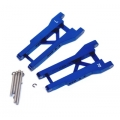 STRC CNC Machined Aluminum Rear A-Arm set (w/steel hinge-pins) for Traxxas Slash (blue)