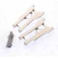 STRC CNC Machined Aluminum Rear A-Arm set (w/steel hinge-pins) for Traxxas Slash (Silver)