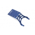 STRC Stampede/Slash Aluminum Rear Skid Plate (blue)