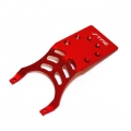 STRC Stampede/Slash Aluminum Rear Skid Plate (red)