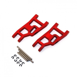 STRC Aluminum Front A-arm set for Traxxas Slash/Stampede/Rustler (1 pair) Red