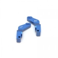 CNC Machined Alum. 1 Deg. Toe-in Rear Hub Carriers for Traxxas Slash, Stampede VXL, Rustler VXL (Blue)