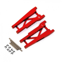 STRC Aluminum Rear A-arm set for Traxxas Stampede/Rustler (1 pair) Red