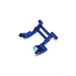 STRC CNC Machined Aluminum Rear Motor Guard for Traxxas cars/trucks (blue)