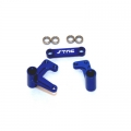 STRC Aluminum Steering Bellcrank Set (w/bearings) for Slash/Rustler/Bandit (blue)