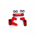STRC Aluminum Steering Bellcrank Set (w/bearings) for Slash/Rustler/Bandit (Red)
