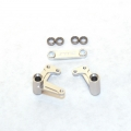 STRC Aluminum Steering Bellcrank Set (w/bearings) for Slash/Rustler/Bandit (Silver)
