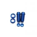 STRC CNC Machined Threaded Aluminum Front Shock Body Set 1 pair Slash 4x4 & Slash 2WD (Blue)