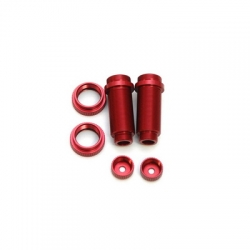 STRC CNC Machined Threaded Aluminum Front Shock Body Set 1 pair Slash 4x4 & Slash 2WD (Red)