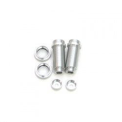 STRC CNC Machined Threaded Aluminum Front Shock Body Set 1 pair Slash 4x4 & Slash 2WD (Silver)