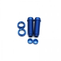 STRC CNC Machined Threaded Aluminum Rear Shock Body Set 1 pair Slash 4x4 & Slash 2WD  (Blue)