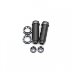 STRC CNC Machined Threaded Aluminum Rear Shock Body Set 1 pair Slash 4x4 & Slash 2WD  (Gun Metal)