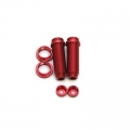 STRC CNC Machined Threaded Aluminum Rear Shock Body Set 1 pair Slash 4x4 & Slash 2WD  (Red)