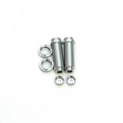 STRC CNC Machined Threaded Aluminum Rear Shock Body Set 1 pair Slash 4x4 & Slash 2WD  (Silver)