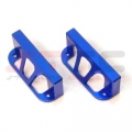 CNC Machined Aluminum Heavy Duty Steering Servo Guards (1 pair) blue