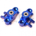 CNC Machined Precision Alum. HD Steering Knuckles (w/larger 6x15 bearings) Blue