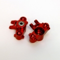 CNC Machined Precision Alum. HD Steering Knuckles (w/larger 6x15 bearings) Red