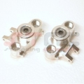CNC Machined Precision Alum. HD Steering Knuckles (w/larger 6x15 bearings) Silver