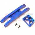 CNC Machined Aluminum Heavy Duty Front Bumper (2 piece design) Blue