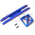 CNC Machined Aluminum Heavy Duty Rear Bumper (2 piece design) Blue