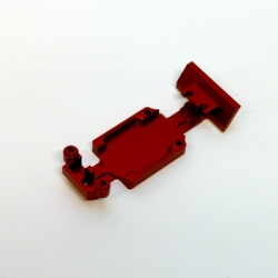CNC Machined Aluminum HD Rear Skid Plate set (Red)