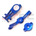 CNC Machined Aluminum Complete Steering Servo Saver Assembly (Blue)