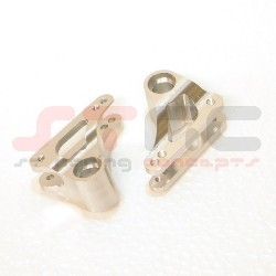 CNC Machined Aluminum Adjustable Precision Rear 90T Rocker Arms (Silver)