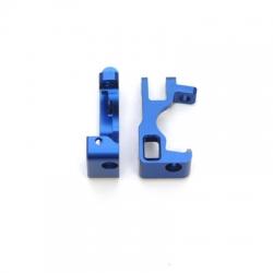 STRC CNC Machined Aluminum C-Hubs for Slash 4x4 (Blue) 1 pair