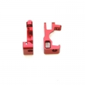 STRC CNC Machined Aluminum C-Hubs for Slash 4x4 (Red) 1 pair