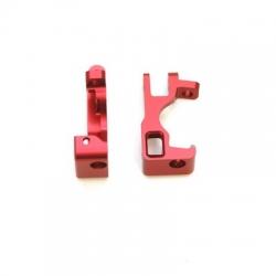 STRC CNC Machined Aluminum C-Hubs for Slash 4x4 (Red) 1 pair