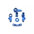 STRC CNC Machined Aluminum Multi-Piece Steering Bellcrank set (blue)