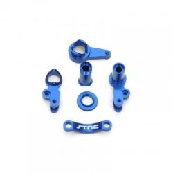 STRC CNC Machined Aluminum Multi-Piece Steering Bellcrank set (blue)