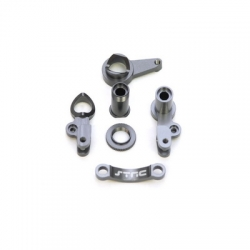 STRC CNC Machined Aluminum Multi-Piece Steering Bellcrank set (Gun Metal)