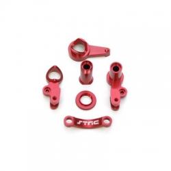STRC CNC Machined Aluminum Multi-Piece Steering Bellcrank set (Red)