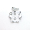 STRC CNC Machined Aluminum Multi-Piece Steering Bellcrank set (Silver)