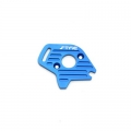STRC CNC Machined Finned Aluminum Motor Plate (Blue) for Slash 4x4