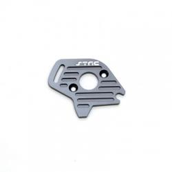 STRC CNC Machined Finned Aluminum Motor Plate (Gun Metal) for Slash 4x4