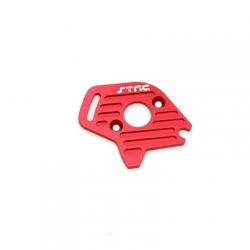 STRC CNC Machined Finned Aluminum Motor Plate (Red) for Slash 4x4