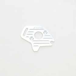 STRC CNC Machined Finned Aluminum Motor Plate (Silver) for Slash 4x4