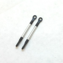 STRC Aluminum/Derlin push-rods for Mini E-Revo (Silver)