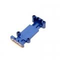 CNC Machined Aluminum Rear HD Skid Plate for Mini E-Revo and Slash (blue)
