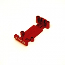 CNC Machined Aluminum Rear HD Skid Plate for Mini E-Revo and Slash (Red)
