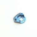 STRC CNC Machined Aluminum Large Finned Motor Mount (Blue)