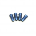 STRC CNC Machined Aluminum threaded shock bodies (4 pcs) Blue