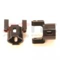 Precision CNC Machined Aluminum Hub Carriers for Axial AX10/SCX10 (Black)