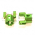 Precision CNC Machined Aluminum Hub Carriers for Axial AX10/SCX10 (Green)