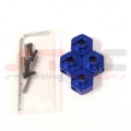 HPI Wheely King 12mm Machined Aluminum Hex adapter set (Blue)