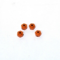 Axial AX10/HPI Wheely King 12mm Aluminum lock-pin Hex adapter set (Orange)