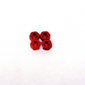 Axial AX10/HPI Wheely King 12mm Aluminum Lock-pin Hex adapter set (Red)