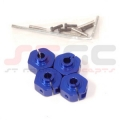 HPI Wheely King 14mm Aluminum Machined Hex adapter set (Blue)